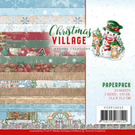 Yvonne Creations Paperpack Christmas Village YCPP10033 23 vellen