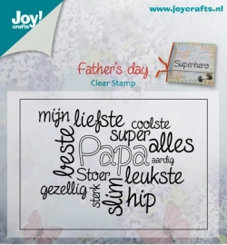 Joy!Crafts Father's day (Vaderdag) clear stempel 6410/0408 10 x 6,5 cm