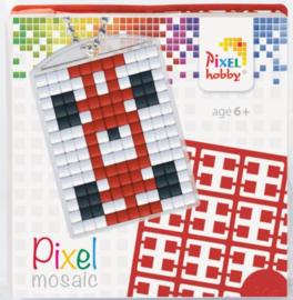 Pixelhobby Pixel mosaic medaillon startset raceauto sleutelhanger