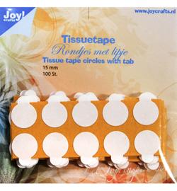 Joy!Crafts tissuetape rondjes Ø 1,5 cm met treklipje 100 stuks 6500/0105