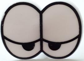 Grappige ogen van hard plastic met sluiting 3,2 x 2,8 cm 2 paar