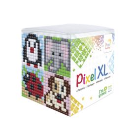 Pixelhobby XL mosaic kubussetje dieren 6,2 x 6,2 cm