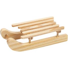 Sleetjes van grenen hout 6 stuks 6,5 x 2,5 cm hoog 1,7 cm
