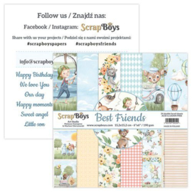Art Studio ScrapBoys Best Friends paperpad 15,2 x 15,2 cm BEFR-09