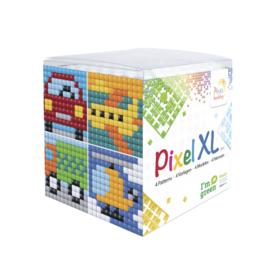 Pixelhobby XL mosaic kubussetje voertuigen 6,2 x 6,2 cm
