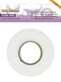 Hobbyjournaal foam tape 2 meter x 12 mm x 2 mm HJTAPE2