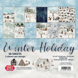 Craft&You Design Winter Holiday small paper pad 15,2 x 15,2 cm CPB-WH15