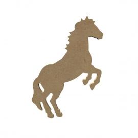 Gomille MDF steigerend paard 16,5 x 10,5 cm dikte 5 mm