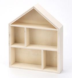 Stafil wooden (houten) huisje type case 21,5 x 17 x 3,9 cm