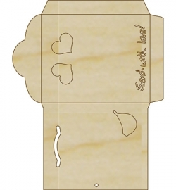 Pronty triplex envelop 1 mal 8,3 x 10,3 cm dikte 3 mm