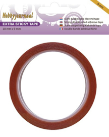 Hobbyjournaal extra sticky tape 9 mm 10 meter HJSTICKY09