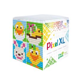 Pixelhobby XL mosaic kubussetje Pasen 6,2 x 6,2 cm