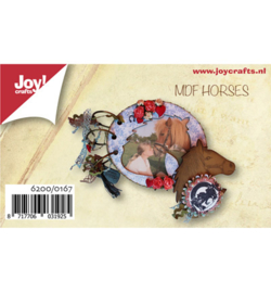 Joy!Crafts MDF set mini fotoalbum paarden 6200/0167