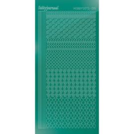 Hobbyjournaal hobbydots sticker mirror Christmas Green 019 STDM19J