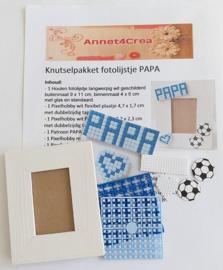 Knutselpakket compleet fotolijstje PAPA