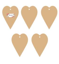 Dutch Doobadoo MDF mini album 5 stuks Heart (hart) 8,8 x 12,5 cm 460.440.351
