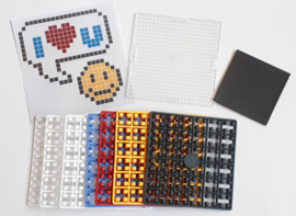 Pixelhobby compleet pakket I love you smiley magneet