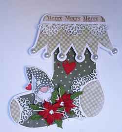 Dutch Doobadoo Card Art A5 Stockings (Kerstsokken) 2 mallen 470.713.681