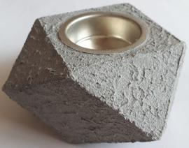 Waxinelichthouder hout bewerkt met Concrete Beton Effekt 1