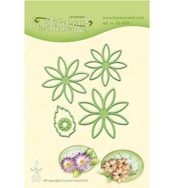 Leane Creatief Lea'bilities Easy Flower 001 snij en embossing dies (mal) 45.4551