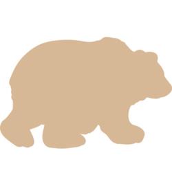 MDF Pronty beer 1 stuk 14,5 x 9,5 cm dikte 3 mm