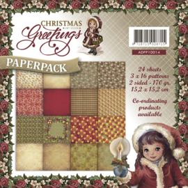 Amy Design Paperpack Christmas Greetings 15,2 x 15,2 cm ADPP10014