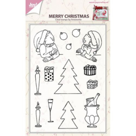 Joy!Crafts Merry Christmas clear stempel bij Antoinette 6410/0433