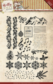 Yvonne Creations Holly Jolly Christmas YCCS10025 clearstamp
