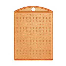 Pixelhobby medaillon plaatje transparant oranje 3 x 4 cm