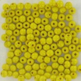 Houten kralen geel 125 stuks Ø 6 mm 85-806-204