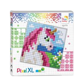 Pixelhobby Pixel XL set eenhoorn hoofd 12 x 12 cm