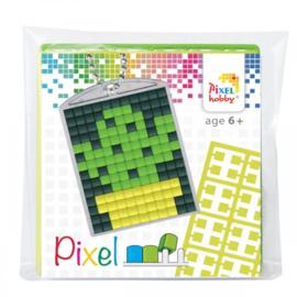 Pixelhobby Pixel mosaic medaillon startset cactus sleutelhanger