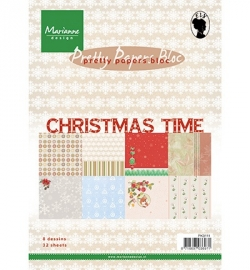 Marianne Design Pretty Papers Bloc A5 Christmas Time PK9111 32 vellen