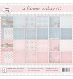 Rosa Dotje a Flower a Day (1) 8348 24 x dubbelzijdig 15,2 x 15,2 cm