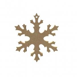 Gomille MDF sneeuwvlok Ø 10,9 cm dikte 5 mm met ophangoog