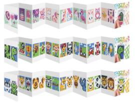 Set van 3 mini boekjes medaillon 3 x 4 cm dieren, schattig en stoer