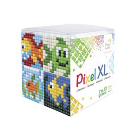 Pixelhobby XL mosaic kubussetje vissen 6,2 x 6,2 cm