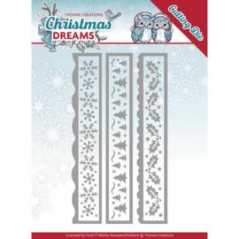 Yvonne Creations Christmas Dreams dies Christmas borders YCD10141