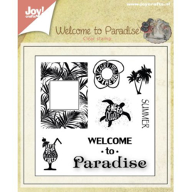 Joy!Crafts Welcome to Paradise clear stempel 6410/0398