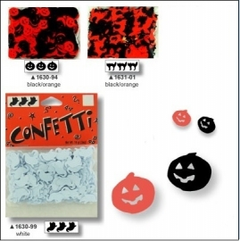 Darice confetti Halloween spook wit 14 gram 0,9 x 1,3 cm