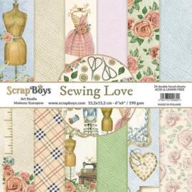 Art Studio ScrapBoys Sewing Love paperpad 15,2 x 15,2 cm