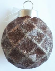Terracotta ornament rond klein bewerkt met Trenddekor Rost (roest effekt)
