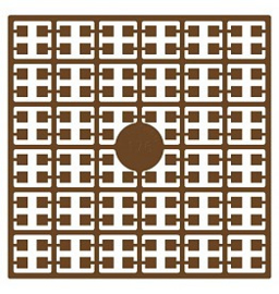 Pixelhobby matje 140 pixels nummer 176 chocolade bruin