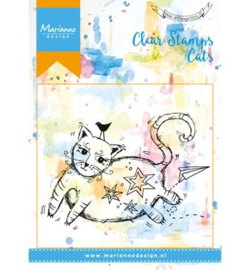 Marianne Design Clear Stempel Fat Cat 8,8 x 5,8 cm MM1611