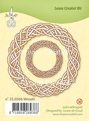 Leane Creatief clear stamp Wreath (krans) 55.0386