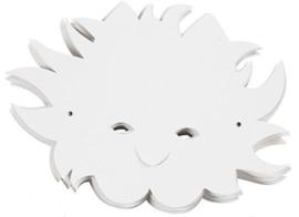 Teach Me fantasie masker zon 5 stuks wit karton 230 grams met elastiek