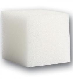 Vierkante zachte sponzen wit 4 cm 2 stuks