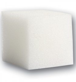 Vierkante zachte spons wit 4 cm 2 stuks