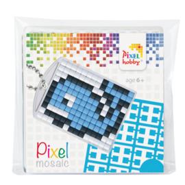 Pixelhobby Pixel mosaic medaillon startset walvis sleutelhanger