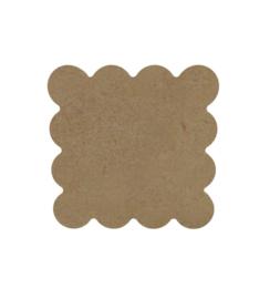 Gomille MDF onderzetter gebold 10 x 10 cm